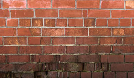 Old brick wall, under construction texture concept Stock Photo