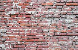 Old Brick Wall. Vintage texture. Background of old brick wall Royalty Free Stock Photography