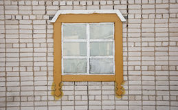 Old brick wall with vintage window Royalty Free Stock Photo