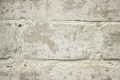 Old brick wall of white color closeup Royalty Free Stock Image