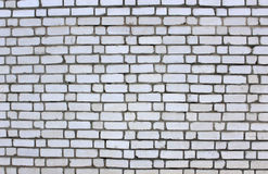 Old Brick wall white color Stock Photography
