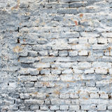 Old brick wall with white gray and blue colors Stock Images