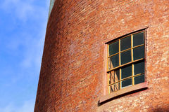 Old brick wall with window Stock Images