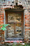 Old brick wall with window Stock Photos