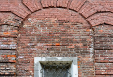 Old brick wall. With window Royalty Free Stock Photography