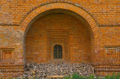 Old brick wall with window Stock Photo