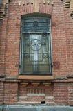 Old brick wall windows on the street of tbilisi ,georgia Royalty Free Stock Photos