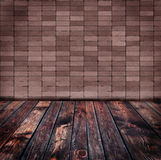 Old brick wall and  wood floor Royalty Free Stock Images