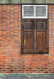 Old Brick Wall with wood Window Royalty Free Stock Photos