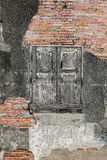 Old brick wall and wooden window Royalty Free Stock Photos