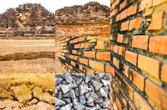 Old brick walls Royalty Free Stock Photo