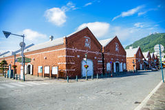 Old brick warehouse in Hakodate Japan Stock Photography
