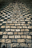 Old brick way. Old stone brick way - a cobblestone old road Stock Image