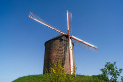 The old brick windmill Royalty Free Stock Image