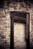 Old bricked in doorway Stock Photography