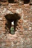 Old bricks background. Red whit stone stock image