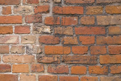 Old bricks background. Old bricks fortification background red whit stone Royalty Free Stock Images
