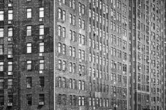 Old bricks building facade, Manhattan, New York City. USA stock photo