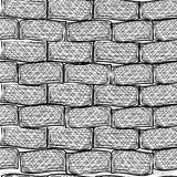 Old bricks. Seamless. Doodle style Stock Image