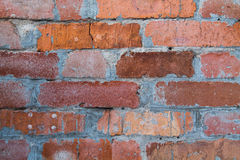 Old bricks. Streschinami old wall from a red brick royalty free stock photography