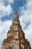 The old bricks structure pagoda. Asian religious Royalty Free Stock Photos