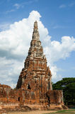 The old bricks structure pagoda. Asian religious Royalty Free Stock Images