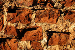 Old bricks wall close-up Royalty Free Stock Photo