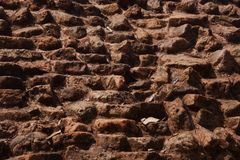 An old bricks wall isolated unique photo. Old bricks made protection wall isolated unique background photo royalty free stock photography