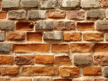 Old brickwall 1. Fragment of the old brick wall as a background Stock Photo