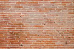 Old brickwall background texture. From medieval town in Italy Royalty Free Stock Images