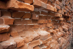 Old brickwork. Affected by the time the old masonry walls at home Stock Images