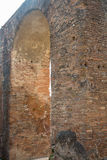 Old Brickwork Arch in Pompeii Stock Photography
