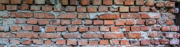 Old brickwork. Brick wall. With slots, damage and mortar stock images