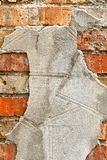 Old brickwork with cement. Texture. Background Close-up Royalty Free Stock Photo