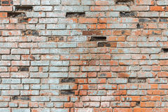 Old brickwork. Old dilapidated and crumbling brickwork royalty free stock photography