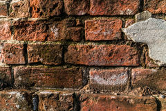 Old brickwork. Fragment of the old brickwork background Royalty Free Stock Images