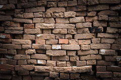Old brickwork vignette dark border Stock Photography