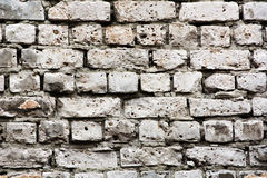 Old brickwork of white bricks Royalty Free Stock Images