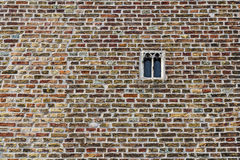 Old brickwork and window in Brugge, Flanders, Belgium Stock Image