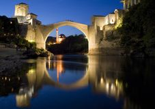 The old bridge. In mostar and Old City of Mostar is a symbol of reconciliation Royalty Free Stock Image