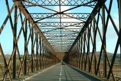 Old bridge. Metal old bridge Stock Photography