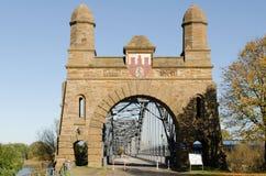 Old bridge. Of harburg to hamburg on the Elbe Stock Photos