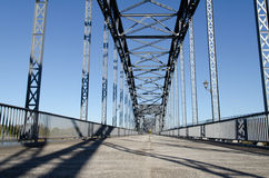 Old bridge. Of harburg to hamburg on the Elbe royalty free stock photo