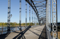Old bridge. Of harburg to hamburg on the Elbe royalty free stock images