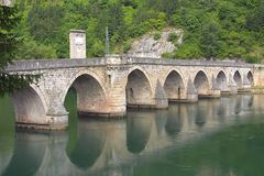 Old Bridge. The old stone bridge over Drina river Stock Image