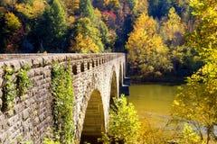 Old bridge. Stone-clad bridge across the Cumberland River in Kentucky Stock Photography