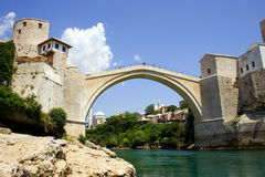 The old bridge. In mostar protected by UNESCO royalty free stock photos