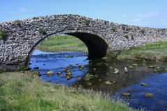 The old bridge at Abberfraw Stock Photography