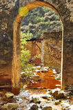 Old bridge, acid mine drainage Stock Images