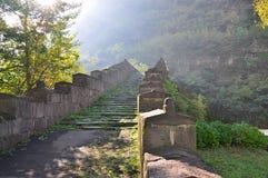 The old bridge in Alaverdi, Armenia. Stock Photography